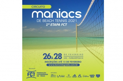 INSCRIÇÕES ABERTAS – CIRCUITO MANIACS BEACH TENNIS 2021 (1ª Etapa FCT)