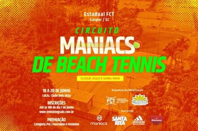 INSCRIÇÕES ABERTAS – CIRCUITO MANIACS BEACH TENNIS 2021 (3ª Etapa FCT)