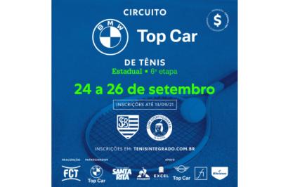 INSCRIÇÕES ABERTAS – CIRCUITO BMW TOP CAR DE TÊNIS (6º ESTADUAL FCT)