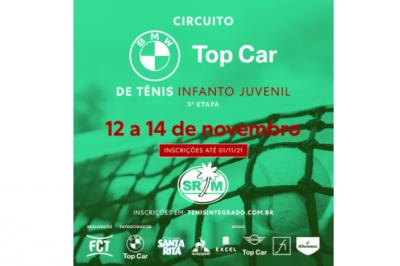 INSCRIÇÕES ABERTAS – CIRCUITO BMW TOP CAR DE TÊNIS INFANTO JUVENIL (5ª ETAPA FCT)