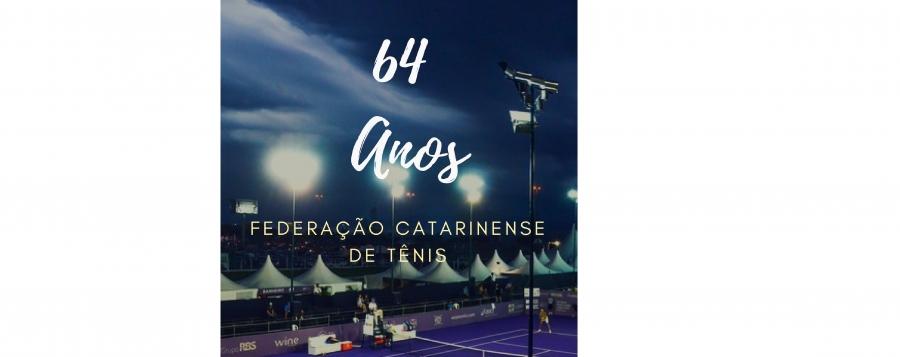FEDERAÇÃO CATARINENSE DE TÊNIS - 64 ANOS